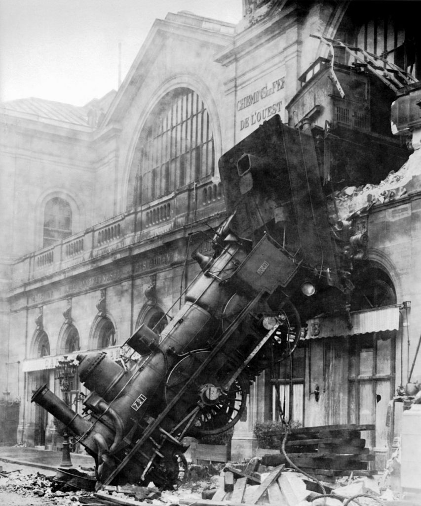 This image has an empty alt attribute; its file name is Train_wreck_at_Montparnasse_1895-853x1024.jpg